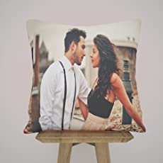 k1gifts Special RED Personalized Satin Photo Pillow/Cushion Gifts All Ocassions
