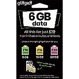 Giffgaff, SIM Card tripla 2G/3G/4G, pagamento a consumo, con £5di credito gratis (all'attivazione)