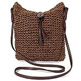 Amuele Frauen Woven Schulter Stroh Stricken Weave Crossbody Jute Jute Strandtasche Weben Handtasche...