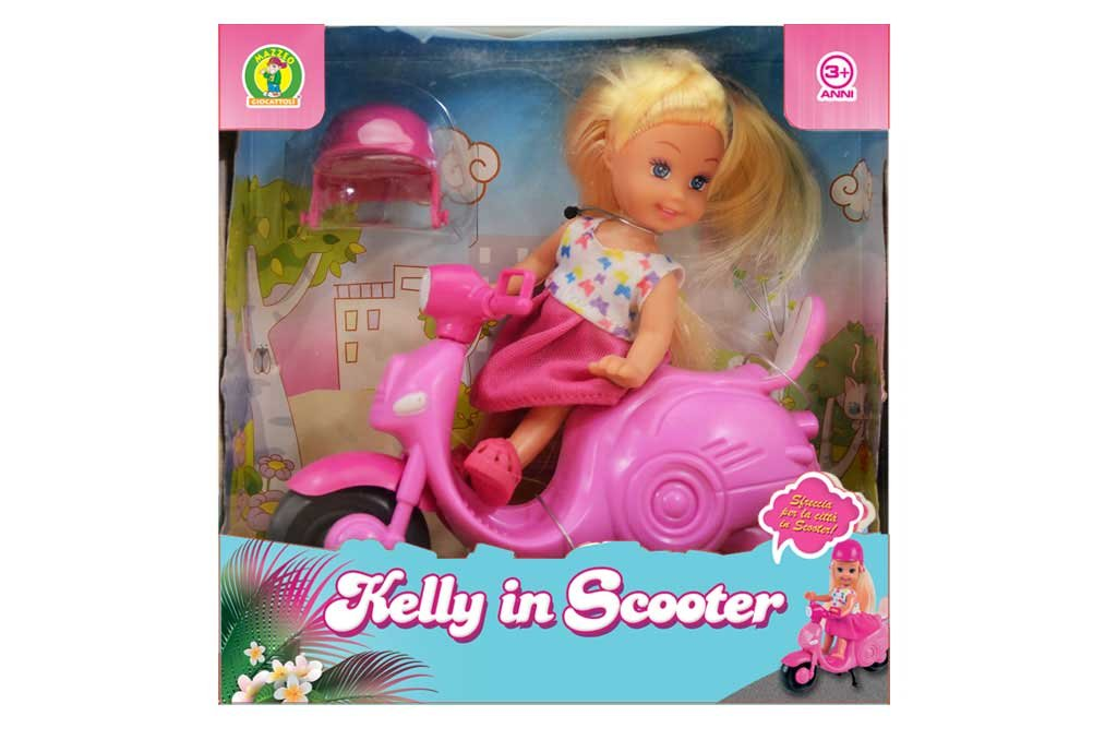 bambola kelly in scooter
