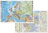 Schreibtischunterlage Deutschland und Europa fürs Büro, 64 x 44 cm