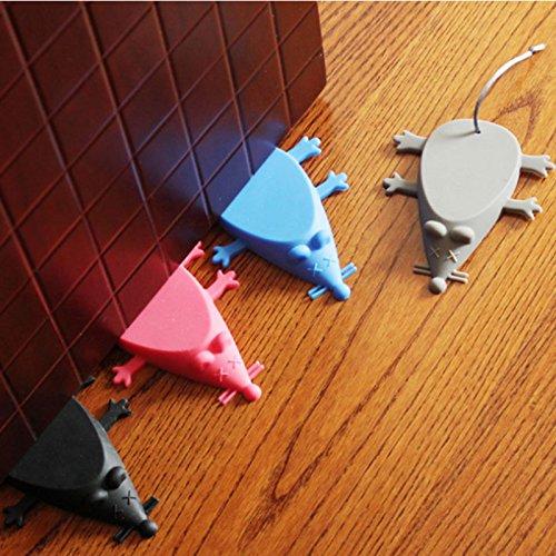 Silicone Fermaporta Bordo della porta Porta porta Decorativo Per la sicurezza dei bambini Sicurezza 4 pezzi impostati COLORE RAMDON (mouse)
