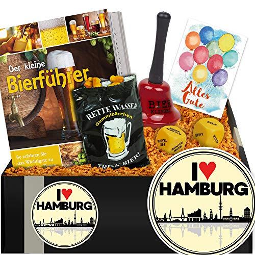 (I ✿ Hamburg | Geschenkpaket mit Trinkspiel | Hamburg Geburtstag Geschenk)
