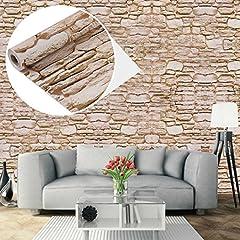 Idea Regalo - UniqueBella Carta da parati autoadesiva da parete 3D, motivo: mattoni, impermeabile, rimovibile, per la casa, la cucina, il soggiorno, 0,45x 10m