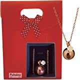 PICHOLINO - Bola de Grossesse   Pendentif avec une mélodie unique   Coffret cadeau original pour femme enceinte   Collier pla