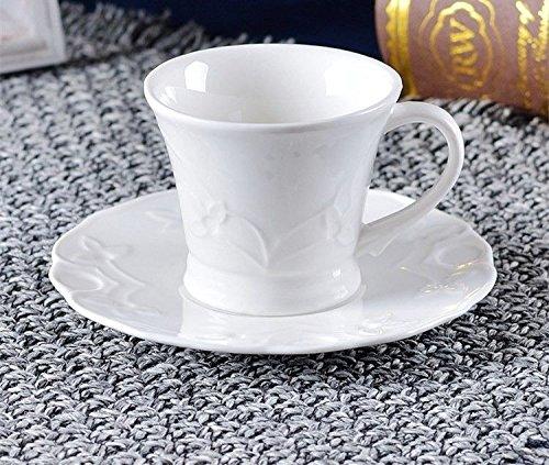 HONGYUANZHANG Espresso Kaffee Tasse Keramik Kaffeetasse Reines Weiß Kaffeetasse Tasse (100 Ml)