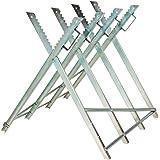 "TecTake Holzsägebock für Kettensäge - diverse Modelle - (Silber / ""Typ 401165"")"