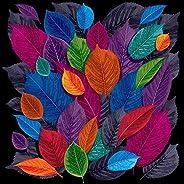 Pitaara Box Dark Autumn Leaves Canvas Painting Mdf Frame 16 X 16Inch