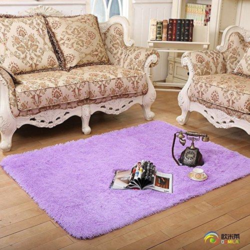 Qwer Il lavabile non perde colore coral moquette la moquette della camera da letto soggiorno tavolino tappeti tappeti al posto letto ,120cm x 200cm, neve tappeti ciano