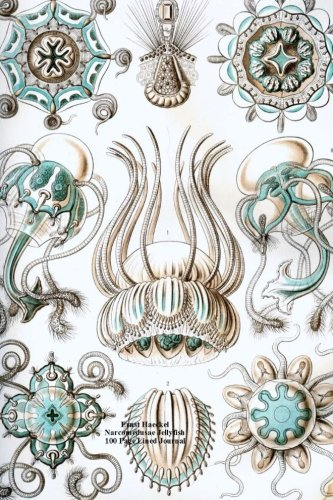 Ernst Haeckel Narcomedusae Jellyfish 100 Page Lined Journal: Blank 100 page lined journal for your thoughts, ideas, and inspiration