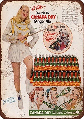 1952canada-dry-ginger-ale-aspecto-vintage-reproduccin-metal-tin-sign-7x-10pulgadas
