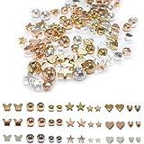 Zasiene Cuore di Perline di Metallo 105 Pezzi Distanziatore Perline Forme Diverse Perline Artigianato Perline di Cuore Distan