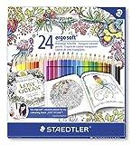 Staedtler 157 C24JB - Buntstifte ergosoft Set 24 farben
