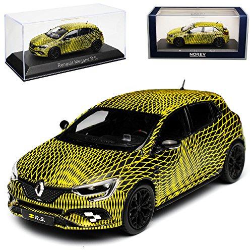 Norev Renault Megane RS IV Schwarz Gelb 5 Türer Test Version GP Monaco 2017 4. Generation Ab 2015 1/43 Modell Auto mit individiuellem Wunschkennzeichen