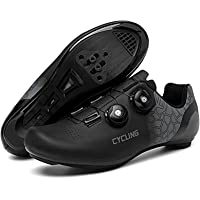 DTKJ Womens Road Bike Cycling Shoes,Unisex Riding Shoes Compatible Cleat Peloton SPD and Delta Lock Pedal,for Indoor…