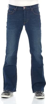Lee Jeans da uomo Denver Bootcut Stretch Denim pantaloni in cotone blu Up Finiture Bright Blue w30 - w44