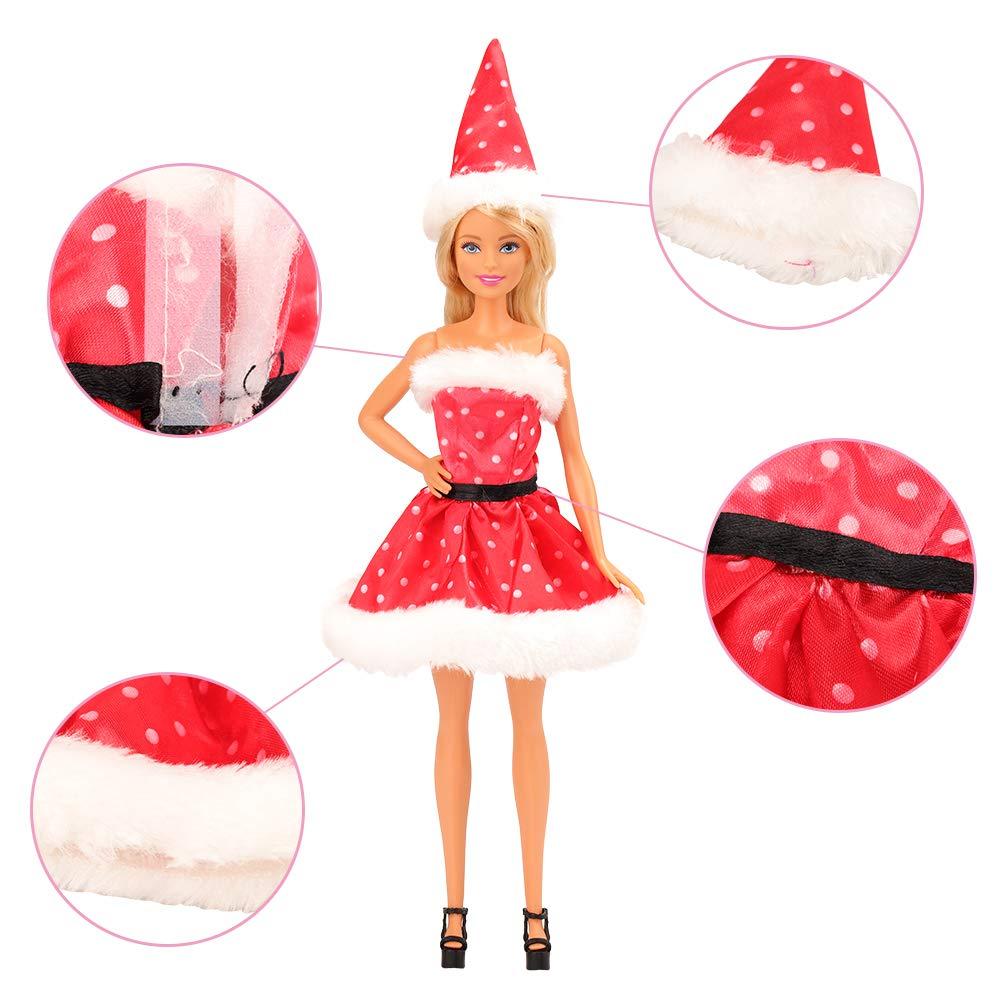 30478ebc8b52 Miunana Abiti Vestiti Ed Accessori Per Barbie Dolls Bambola (Natale)   Abiti  e scarpe   Giochi e giocattoli - tibs