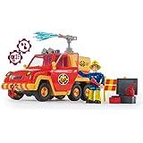 Smoby - Sam le Pompier - Pick Up Vénus - Fonction Lance à Eau - 4 Accessoires + 1 Figurine Incluse - Piles Incluses - 1092576