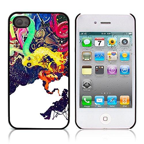 Graphic4You Curves On Canvas Digital Art Muster Design Harte Hülle Case Tasche Schutzhülle für Apple iPhone 4 und 4S Design #12