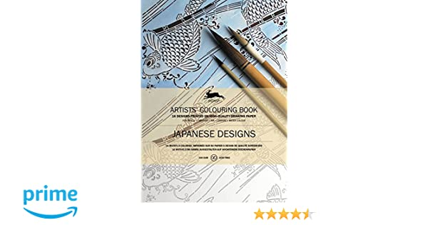 Artists Coloring Book Pepin : Japanese designs artists colouring book books