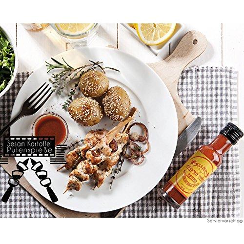 61ghOuYVUyL - Mexican Tears® - Red Habanero Sauce, scharfe Sauce aus Chili & Meersalz, perfekt als Grill-Zubehör für BBQ Sauce, Pulled Pork & zum Aufpeppen von Pizza & Pasta [100ml Chilisauce]