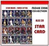 STAR WARS FORCE ATTAX SERIE 3 - Movie Card Collection - Deutsch - Alle 20 Star Card Karten