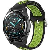 KOMI Correa de reloj de silicona de 20 mm y 22 mm, accesorios de reloj inteligente para hombres y mujeres