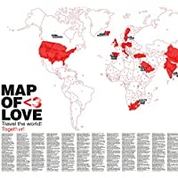 Map of Love - Weltkarte für Liebende von Awesome Maps