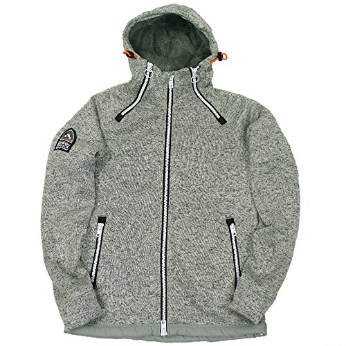 Superdry Storm Double Ziphood in Grey Grit grey grit