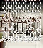 LIQICAI Türvorhang Perlenvorhang DIY Kristall für Hochzeit Party Club Schaufenster Raumteiler, 5 Farben erhältlich (Farbe : Kaffee, Größe : 160 * 180CM)