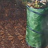 SunDeluxe Stabiler Pop Up Gartenabfallsack 100 Liter Doppelte Nähte Gartensack Rasensack Laubsack Gartenhilfe - praktisch Faltbar und verstaubar
