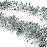 2m (6.5 Ft) Christmas Tinsel Tree Decorations Tinsel Garland (silver)
