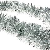 Weihnachtslametta, Baumschmuck, Girlande, 2m silber