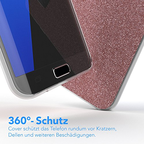 249b71e7c7d9f ... Samsung Galaxy S7 Edge Hülle - EAZY CASE Handyhülle - Ultra Slim  Glitzer Schutzhülle aus Silikon ...