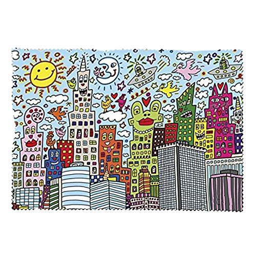 Fridolin Brillenputztuch Rizzi-My New York City aus Mikrofaser, Mehrfarbig, 18x12.5x1 cm