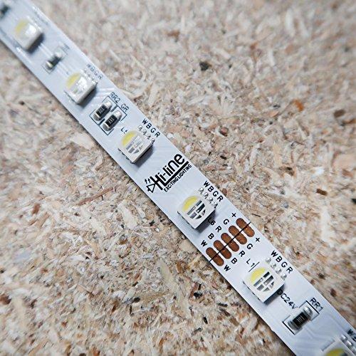 RGBW 14,4 W/M de bande de LED (RGB + kW) 24 V de ip00-cri80 SMD5050 - Rouleau de 10 m