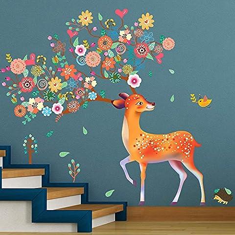 Bambini camera decorazione cervi parete adesivi murali adesivi adesivi da parete camera da letto , 1 , super