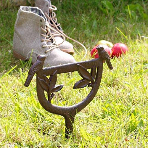 Dibor - French Style Accessories for the Home Robuster Schuhabkratzer aus Gusseisen, historisch, für den Außenbereich, für schmutzige Stiefel und Schuhe, 25,5cm