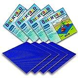 Brickyard Building Blocks Grundplatten für Bausteine (4er-Paket Blau)