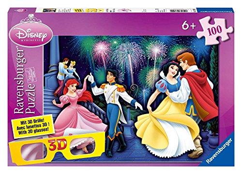 Ravensburger 13629 - Disney Princess: Glanzvoller Auftritt der Prinzessinnen - 100 Teile 3D XXL Puzzle (Mit 3D Brille)