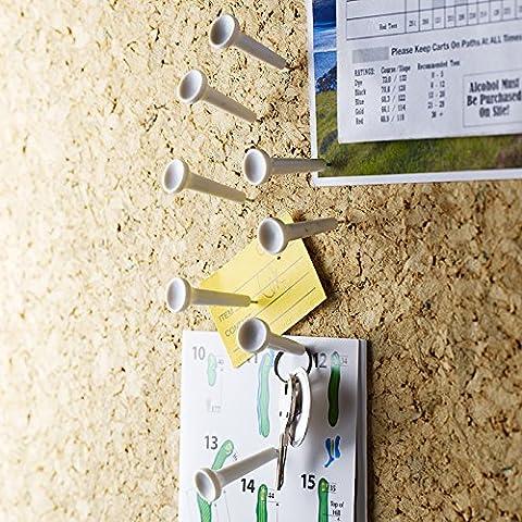 Design Ideas Tee Time Support, poussoir en forme de T-shirt de Golf Lot de 8broches Mémo Punaises Blanc 3206007