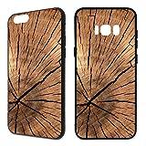 Handyhülle Holz für Samsung | Hardcase Natur Tiere Brett Holzhülle Planzen, Handy:Samsung Galaxy S5 / S5 Neo, Hüllendesign:Design 2 | Hardcase Schwarz