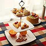 #3: Generic 1 Set 2 or 3 Tier Cake Plate Stand Cupcake Fittings Silver Golden Wedding Party