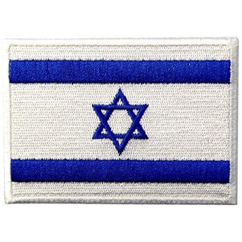 Bandera de Israel Emblema Israelí Estrella de David judía Parche Bordado de Aplicación con Plancha