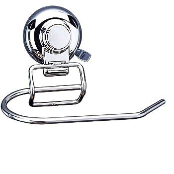 interdesign euro power lock toilettenpapierhalter mit saugn pfen f r das bad durchsichtig. Black Bedroom Furniture Sets. Home Design Ideas