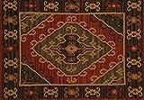#2: Contrast Living Wool Kilim Rug (4x6 Feet )