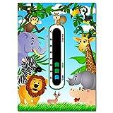 Baby Safe Ideas Jungle Tiere Kinderzimmer Thermometer–mit neuesten leicht Lesen Farbwechsel...
