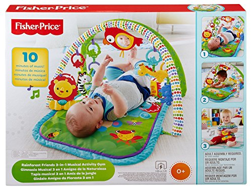 Fisher-Price - Gimnasio musical animalitos (Mattel CHP85) -