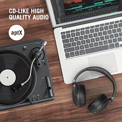 TaoTronics Active Noise Cancelling Kopfhörer aptX Bluetooth Kopfhörer ANC 22 Stunden Wiedergabezeit, aptX Audio in CD-Qualität, Geräuschunterdrückende kabellose Kopfhörer mit CVC 6.0 Mikro - 3