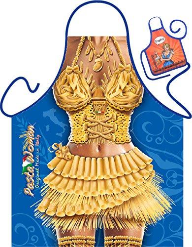 Nudel Kostüm - Nudel Pasta Motiv Kochschürze sexy Frauenkörper